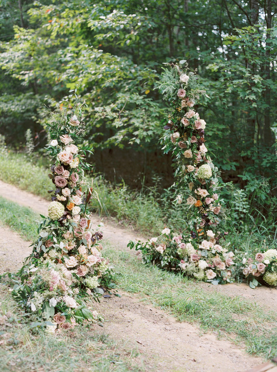 Fall floral arch