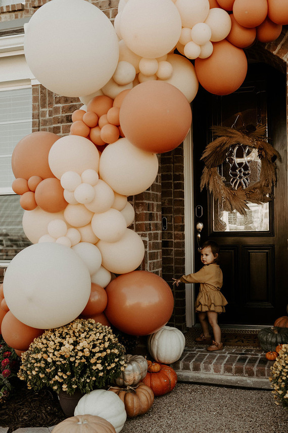 Boho blushy second birthday drive through party