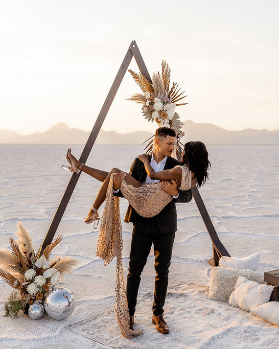 Anniversary shoot in the Salt Flats of Utah