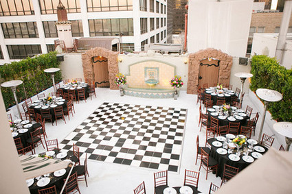 Modern Downtown Los Angeles Wedding Reception Wedding Party Ideas