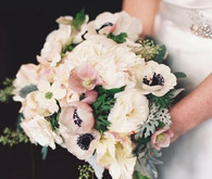 Pale pink and white anemone Bouquet