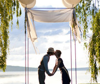Lakeside Wedding Ceremony Decor