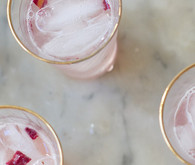Rhubarb & Rosewater cocktail