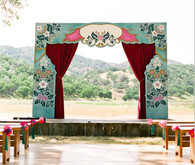 Whimsical Outdoor Wedding Ceremony Decor
