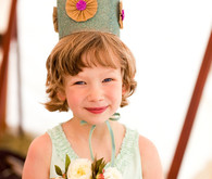 Whimsical Outdoor Wedding Flower Girl