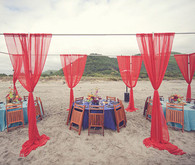 Beachside Reception Decor
