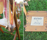 Farm Wedding Ceremony Decor