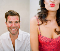 Hearts and Lipstick Engagement Shoot