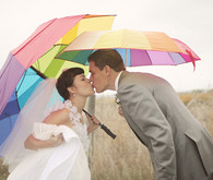 Rainy Day Wedding Portrait