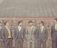 Grey w/ pop of yellow groomsmen