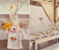 Rustic Fall reception decor