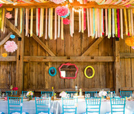 Colorful reception decor