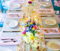Rustic summer tablescape