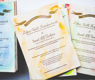 Watercolor wedding invites