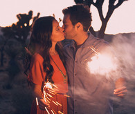Desert Engagement Shoot with Sparklers