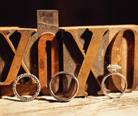 XOXO Typewriter Keys Rings Shot