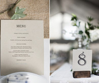 Craft menu and table numbers