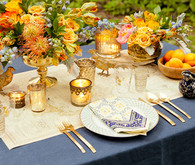 Exotic boho tablescape