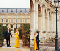 engagement shoot at the louvre