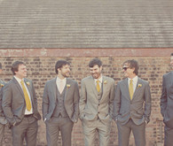 Yellow and Grey Groomsmen