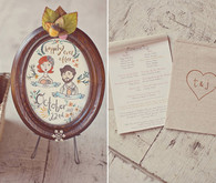 Rustic Wedding Program and Ceremony Decor
