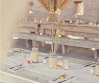 Birch Tree and Mason Jar Tablescape