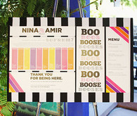 Whimsical Striped and Multi-Colored Escort Display