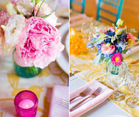 Cheerful Colorful Tablescape