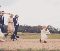 Bohemian Wedding Bridal Party Shot