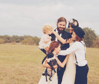 Bohemian Wedding Family Portrait