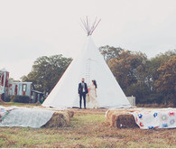 Teepee Ceremony Backdrop
