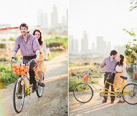 Engagement shoot with bikes