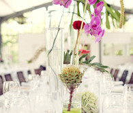 Elegant Simple Orchid Tablescape