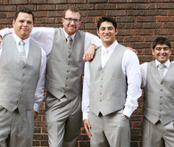 Grey and White Groomsmen in Vests