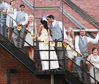 Fire Escape Bridal Party Portrait