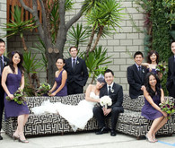 Purple and Black Bridal Party