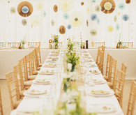 Whimsical woodland wedding decor