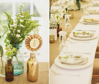 Woodland reception decor