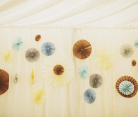 Whimsical paper reception decor