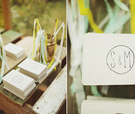 Woodland vintage ceremony decor