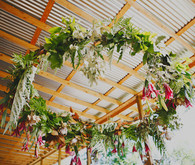 Floral garland wreath