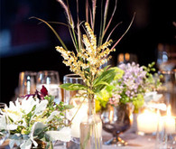Mixed Wild Flowers Tablescape