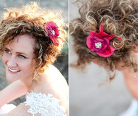 Wild Curls Bridal Hairstyle