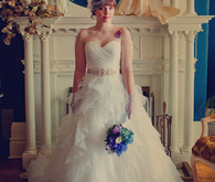 Bridal Style - Birdcage Veil and Tulle Dress