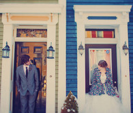 Bride and Groom Doorway Portrait