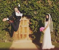 Fun Groom Jumping Portrait