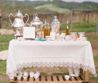 Adorable Tea Cup Beverage Cart