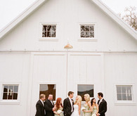 Barn Door Bridal Party Shot