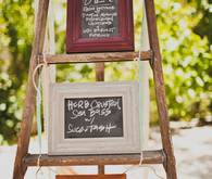 Ladder and Chalkboard Menu Display