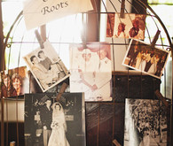Old Vintage Photo Display